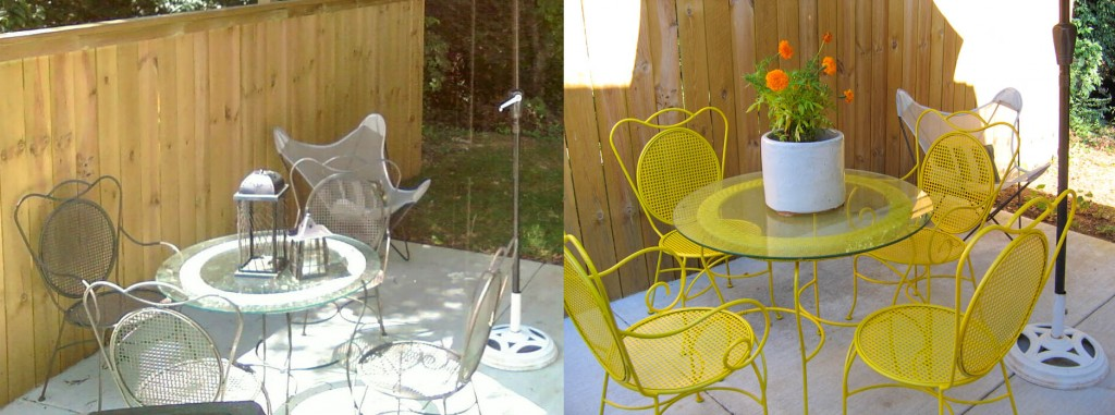 Before & After Patio Set