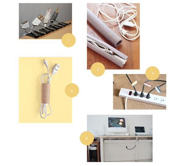 Easy DIY Cord Organization